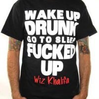 ROCKWORLDEAST - Wiz Khalifa, T-Shirt, Wake Up Drunk