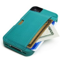 Amazon.com: CM4 Q4-GREEN Q Card Case Wallet for Apple iPhone 4/4S - 1 Pack - Retail Packaging - Pacific Green: Cell Phones &amp; Accessories