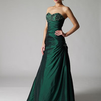 Shop for Crush emerald taffeta prom dresses and ball gown