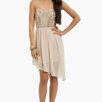 Embellished Lanes Strapless Dress $58