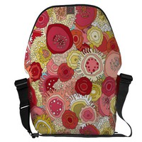 coral garden messenger bag from Zazzle.com
