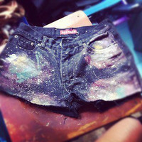 Galaxy high waisted Shorts