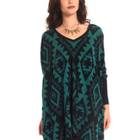 GYPSY WARRIOR - Dakota Sweater - Teal