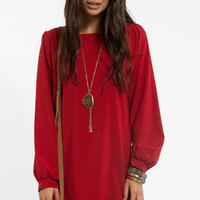 Maria Solid Shift Dress $39