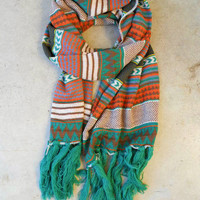 Knitted Navajo Fringe Scarf [3415] - $28.00 : Vintage Inspired Clothing & Affordable Fall Frocks, deloom | Modern. Vintage. Crafted.