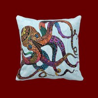 Electric Octopus Throw Pillows from Zazzle.com