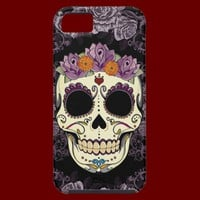 Vintage Skull and Roses iPhone 5 Case-Mate Tough from Zazzle.com