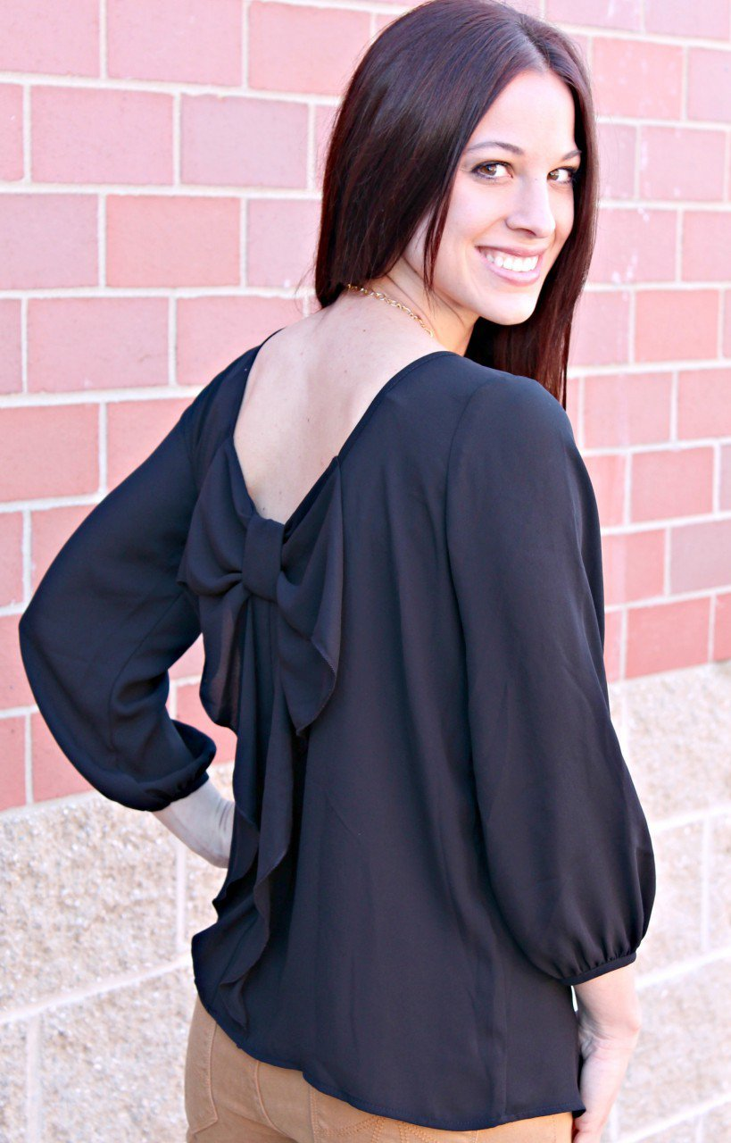 Amazing Women39S White Blouse With Bow  Hot Black Blouse