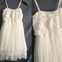 Ruffle Party Dress Romantic Night Cocktail Dress White Rose Girl Prom Dress Xmas Gifts Christmas