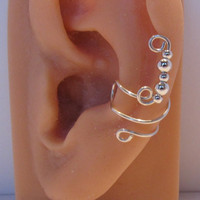 Sterling Ear Cuff Wrap Non Pierced by RazzleDazzleMe on Etsy