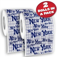 Double Header - 2 Pack of New York Toilet Paper - Whimsical & Unique Gift Ideas for the Coolest Gift Givers