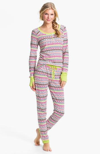 Stewart Plaid Thermal-Top Women's Pajamas. A traditional cold-weather requisite, red plaid is a quintessential holiday gift. Woven, double-brushed premium flannel pants promise impeccable softness - straight out of the gift box.