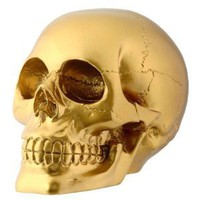 Amazon.com: Gold Skull Sculpture: Home &amp; Garden