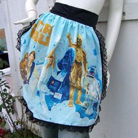 Star Wars Apron A New Hope Half Ruffle Hostess Barista