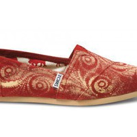 Last Chance - Red Canvas Women's Gabriel Lacktman Spiral Classics | TOMS.com