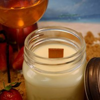 Wood Wick Soy Jar Candle -  Sex on the Beach Scented Mason Jar Candle