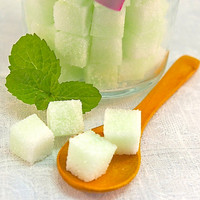 Mint Flavored Sugar Cubes- 8 oz Glass Sugar Bowl for Tea Parties, Champagne Toasts, Favors, Coffee, Tea, Berries, Cider, Lemonade
