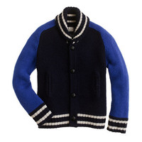 Boys&#x27; lambswool varsity jacket