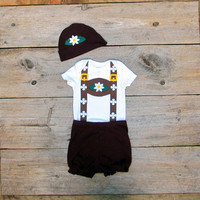 Toddler Lederhosen Childrens Costume / Oktoberfest Baby Halloween Costume