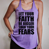 *Faith/Fears* Lavender Racerback by High Wired