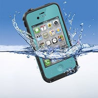 LifeProof - Case for Apple® iPhone® 4 and 4S - Teal