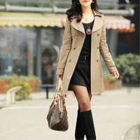 2012 New Arrivals Europe Long Style Women's Coat,Cheap in Wendybox.com