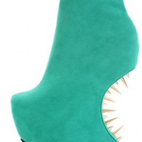 Green Smooth Velvety Platform Spiked Curved Wedges @ Amiclubwear Wedges Shoes Store:Wedge Shoes,Wedge Boots,Wedge Heels,Wedge Sandals,Dress Shoes,Summer Shoes,Spring Shoes,Prom Shoes,Women&#x27;s Wedge Shoes,Wedge Platforms Shoes,floral wedges,Fashion Wedge Sh