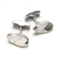 Men's Layered Oval Cufflink