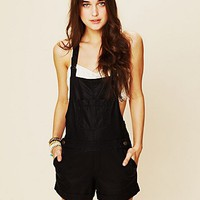 Free People Vegan Leather Overalls