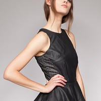 Leather star peplum top [Mus2856] - $41 : Pixie Market, Fashion-Super-Market