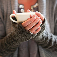 hand knitted long mittens by sage, inspired by life | notonthehighstreet.com