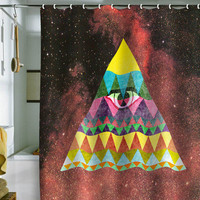 DENY Designs Home Accessories | Nick Nelson Pyramid In Space Shower Curtain