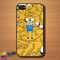 Adventure Time Finn Jake Custom iPhone 4 or 4S Case Cover