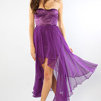 The Dulce Bodice Dress in Purple