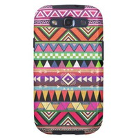 Aztec Graphic Art Zigzag Multicolor Pattern Galaxy S3 Cases from Zazzle.com