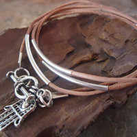 TENDER IN NATURE leather wrap bracelet &amp; Fatima&#x27;s by AsaiBolivien 8,90 US$