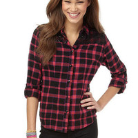 Sequin Trim Plaid