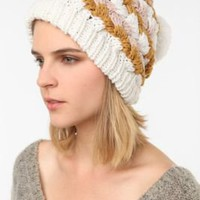UrbanOutfitters.com > Pins and Needles Basketweave Knit Pom Beanie