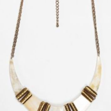 UrbanOutfitters.com > 25th Floor Horn Choker Necklace