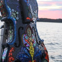 Shattered SymphonyOriginal Mosaic Violin by CrookedMoonMosaics