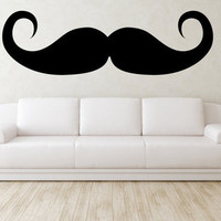 Mustache Wall Decal - Vinyl Mustache Wall Art - 6 Feet Wide by Art of Vinyl