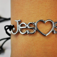 JCLU Forever Christian t-shirts  JESUS HEART BRACELET-www.jcluforever.com
