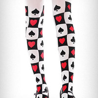 Alice In Wonderland Thigh Highs | PLASTICLAND