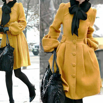 [sold out]  Made to order cashmere jacket coat dress by dressbecomeart on Etsy