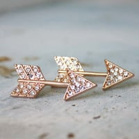 Glittering Arrows Earrings, Women's Bohemian Jewelry