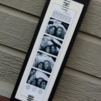 Picture Frame - Holds Photo Booth Picture Strip - Black & White