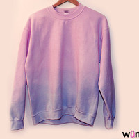 The Leah Sweatshirt (Oversized Pastel Ombre Dip Dye Sweater)