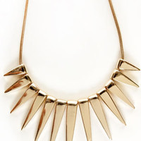 Solar Flare Gold Necklace