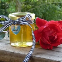 Raw Wildflower Honey, 100 Wildflower Honey 2oz Jars, Wedding Favors, Tennessee Wildflower Honey, Bridal Shower Charms
