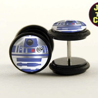 R2D2 Fake Plugs by Plug-Club with Black Base